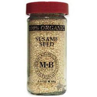 Morton & Basset Spices, Organic Sesame Seed, 2.4 Ounce (Pack of 3)