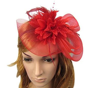 Zking Fascinators for Women Derby Hats Wedding Hat with Veil Girls Flower Headband