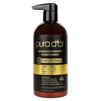 PURA D'OR Advanced Therapy Conditioner Increases Moisture and Strength, Infused with Premium Organic Argan Oil & Aloe Vera, 16 Fl Oz [Conditioner]