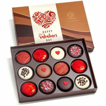 Valentines Day Love Chocolate Covered Oreos Dozen Gift Box [Valentines Day]