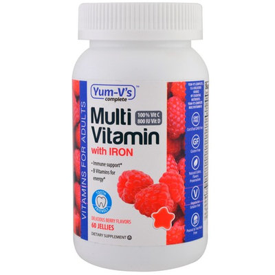 Yum-V's, Multivitamin with Iron, Delicious Berry Flavors, 60 Jellies