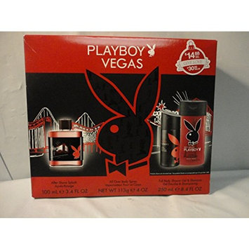 Playboy Vegas 3 Piece Gift Set for Him, Hot Vegas Playboy