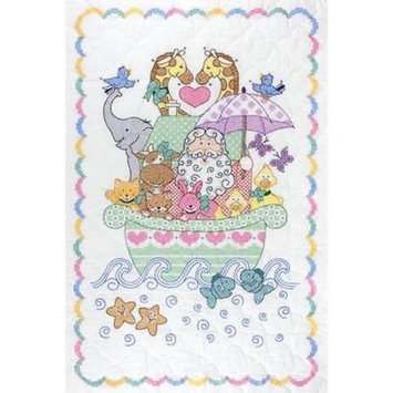Stamped White Quilt Crib Top Noah's Ark 1 Set(s)