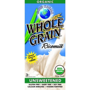 Good Karma Whole Grain Ricemilk, Unsweetened, 32-Ounce Packages (Pack of 12)