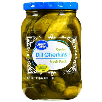 Mt. Olive Pickle Co Inc Great Value Kosher Dill Gherkins, 16 oz