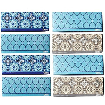 Kleenex Facial Tissues, Thick and Absorbent, Variety of Assorted Colors and Designs