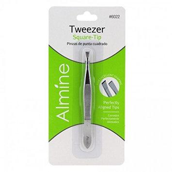 (PACK OF 3) ALMINE Square Tips Tweezer #6022 : Beauty