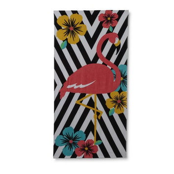 Essential Home Beach Towel - Flamingo & Hibiscus Blossoms