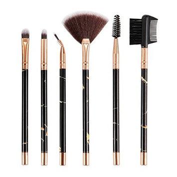 Emubody6 Pcs Marble Make-up Brush Suit Eye Brush Eyelash Brush Beauty Make-up Tool