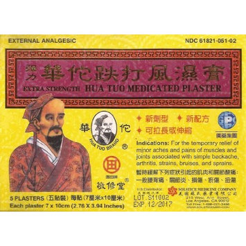 HUA TUO Extra Strength Medicated Plaster - Relief From Minor Aches and Pains of Muscles and Joints (Box, 5 Plasters-PACK OF SIX)