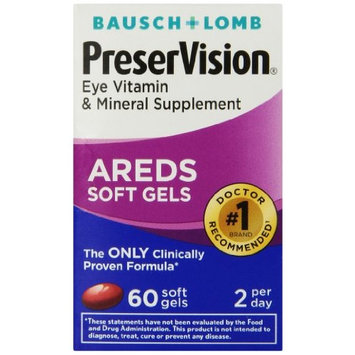 Bausch & Lomb PreserVision Soft Gels 60 Soft Gels Each