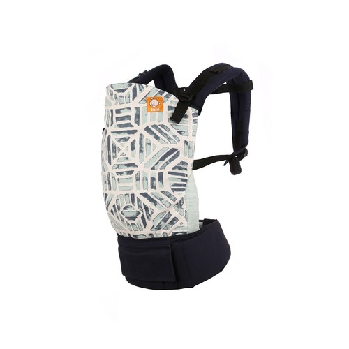 Baby Tula Multi-Position, Ergonomic Toddler Carrier, Front and Back Carry for 25 – 60 pounds – Agate (Multi-Colored, Teal, and Neutral Chevron)