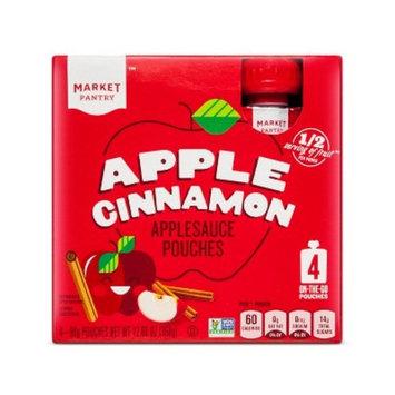 Apple Cinnamon Applesauce Pouches - 90gms - Market Pantry™