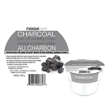 masque BAR Charcoal Peel-Off Modeling Mask, Gray - For Acne, Blemishes, Oily Skin, Blackheads, Facial Pore Refiner - Made in Korea