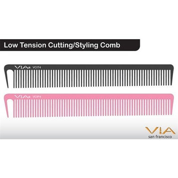 Low Tension Cutting/Styling Comb - Black (2 Pack) by 1stopsalon