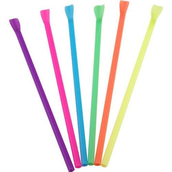 Disposable Multi-Colored Smoothie Spoon Straws - Case of 400