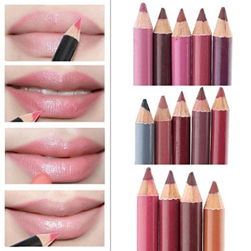 Sandistore Women's Professional Lipliner Waterproof Lip Liner Pencil 15CM 12 Colors Per Set