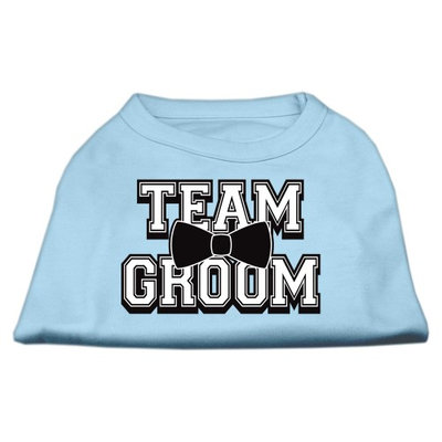 Mirage Pet Products 5178 XXLBBL Team Groom Screen Print Shirt Baby Blue XXL 18