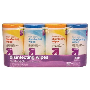 Disinfecting Wipes, Lemon and Fresh Scent, 75 ct, 4 pack -up & up™