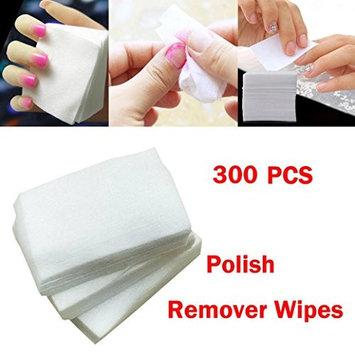FENZL 300pcs Lint Free Nail Art Gel Polish Remover Cotton Pad Nail Wipe