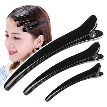 10PCS Black Plastic Hair Clips Prong DIY Hairstyle Alligator Teeth Hair Pins Claws Barrettes Clamps Hair Accessories Hairdressers Hairpins For Women Girls