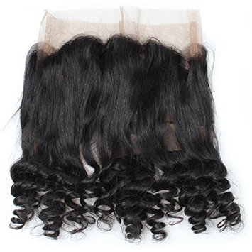 Mink Hair 360 Lace Frontal Closure (20inch) Brazilian Loose Wave Free Part Frontal Closure with Baby Hair Pre Plucked Natural Color