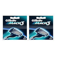 Gillette Mach3 Refill Razor Blade Cartridges, 2 Count (Pack of 2) + FREE Curad Bandages, 8 Ct.