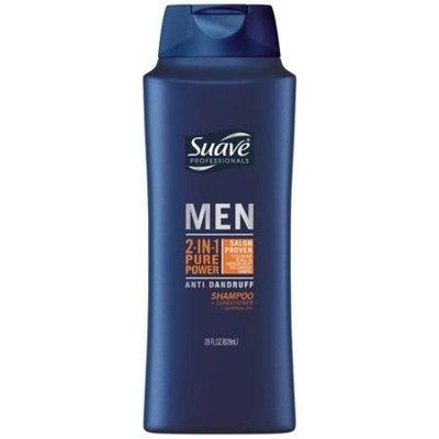 Suave Men Anti Dandruff Pure Power 2 in 1 Shampoo and Conditioner, 28 oz