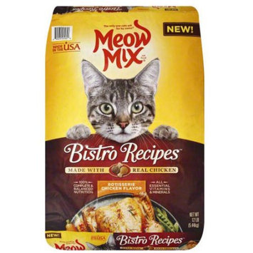 Meow Mix Bistro Recipes Rotisserie Chicken Dry Cat Food - 12lb