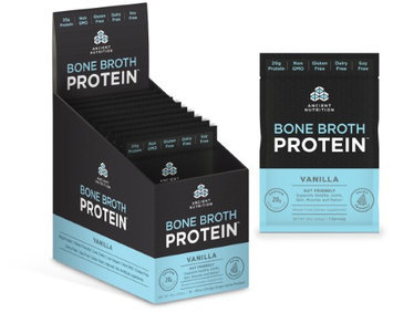 Ancient Nutrition Bone Broth Protein Powder - Vanilla - 15 Packets - Gut Friendly
