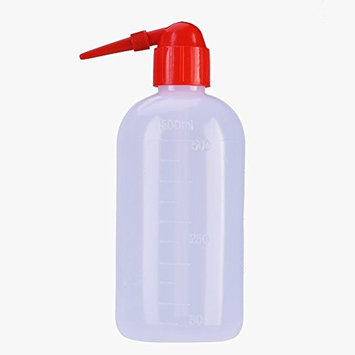 2Pcs Washing Solutions For Tattoo Plastic Squeeze Bottle 500ML Wash Cleaning Non-Spray Wash Bottle Narrow Mouth