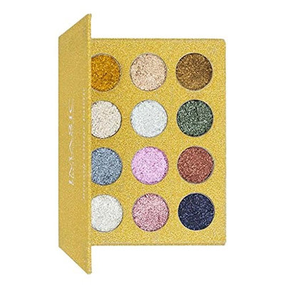 Baoblaze Beauty 12 Colors Glitter Eyeshadow Palette | Shimmer Diamond Pigmented Metallic Makeup Eye Shadow Powder | Long Lasting & Waterproof - #1
