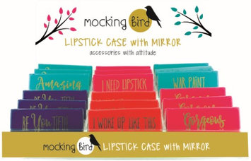 Mocking Bird 2169606 Mocking Bird Lipstick Case - Gold Metalic Case of 36