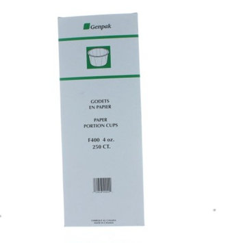 Lot of 250 Genpak 4 oz. Paper Portiob Cups Souffle Medicine Jello Shots F400