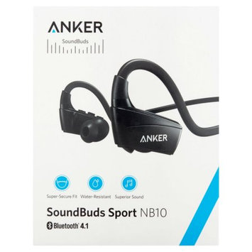 Anker NB10 SoundBuds, Secure Fit Sport Sweatproof Bluetooth Wireless Headphones