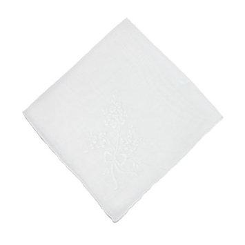 CTM Womens Cotton Fresh Cut Bouquet Print Handkerchief
