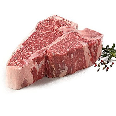 York Prime Beef - Porterhouse - Short Loin - 4 x 30 Oz. Steaks - THE BEST STEAK ON THE PLANET - CARVED FROM A WHOLE DRY AGED SHORT LOIN via Fed Ex overnight