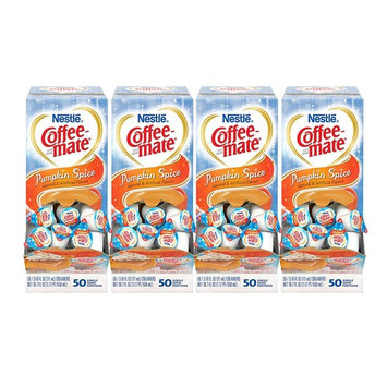 NESTLE COFFEE-MATE Coffee Creamer, Pumpkin Spice, liquid creamer singles, Pack of 200 [Pumpkin Spice]