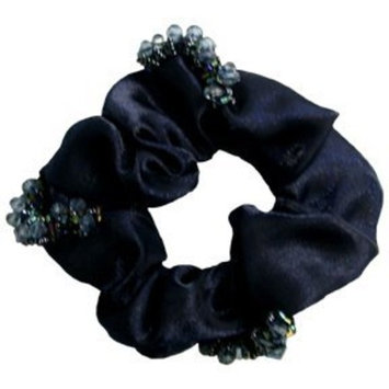 Smoothies Scrunchie Beaded Organza - Navy 00886 by Smoothies