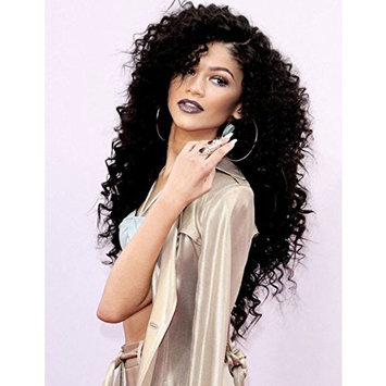 Synthetic Lace Front Wigs With Baby Hair L Part Kinky Curly Afro Hair Wigs For Black Women Fluffy Wig Heavy Density