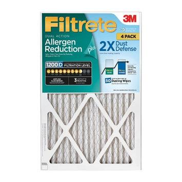 Filtrete Dual-Action Micro Allergen Plus 2X Dust Defense Filter 20x20x1 (4-pk.)