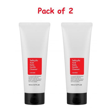 [Pack of Two] Cosrx Salicylic Acid Daily Gentle Cleanser / 5.07 ounces with Eyebrow Razor: Beauty