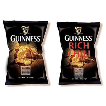 Burt's Guinness Chips - COMBO pack of Regular and Chili flavors