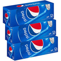 Pepsi Soda, Fridge Pack Bundle, 12 fl oz, 36 Cans (Packaging May Vary)