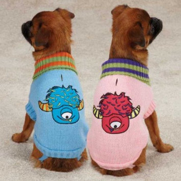 Casual Canine Lil Monster Sweater Blue, Medium