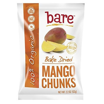 Bare Organic Mango Chunks, Gluten-Free + Baked, 2.2-Ounce Bags (Pack of 12)