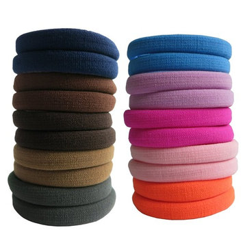 Thick Hair Ties, BETITETO 20 Pieces Seamless Ponytail Holders Scrunchies Women Cotton Stretch Hair Elastics for Thick Heavy or Curly Hair