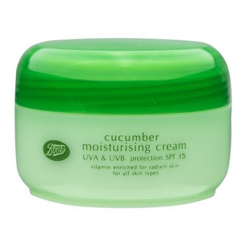 Boots Cucumber Moisturising Cream SPF 15 UVA & UVB Protection 100 ml