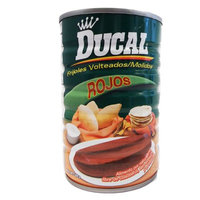 Ducal Refried Red Beans 15 oz - Frijoles Rojos Refritos (Pack of 12)