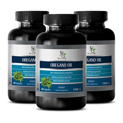 Healthy supplements - OREGANO OIL EXTRACT 1500mg - Wild oregano new roots - 3 Bottles 180 Capsules